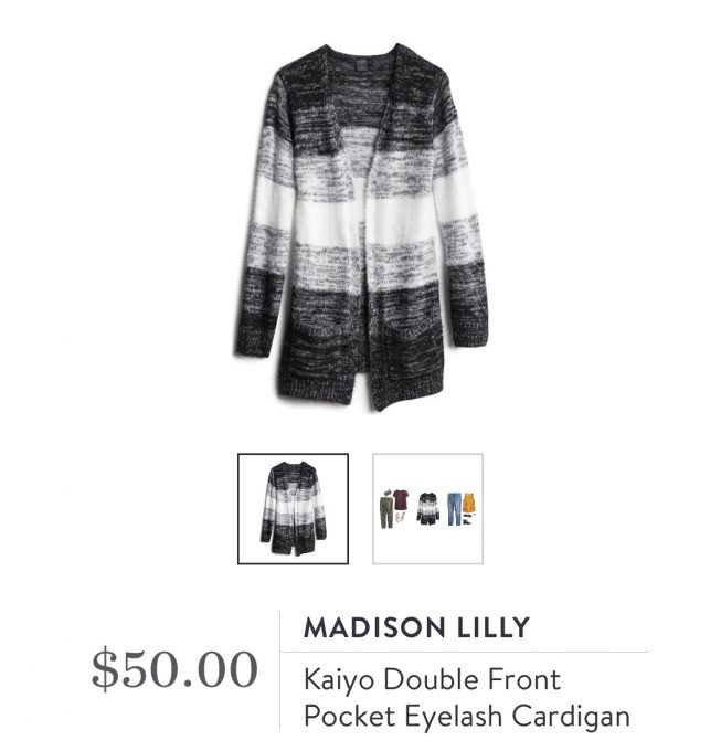 Madison Lilly Kaiyo Double Front Pocket Eyelash Cardigan