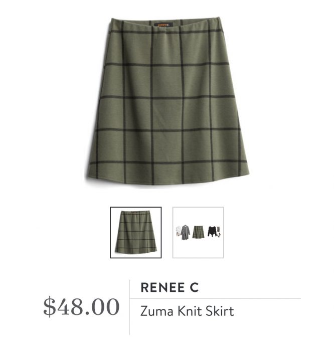 Stitch Fix Renee C Zuma Knit Skirt