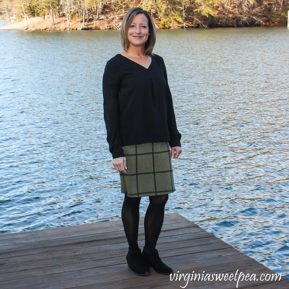 Stitch Fix Review for February 2020 - Renee C Zuma Knit Skirt