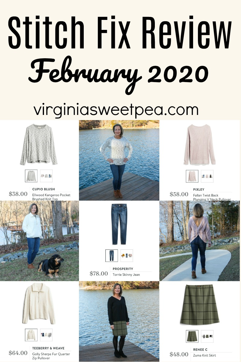 Stitch Fix review for February 2020  - See the comfortable and casual styles sent my way for February.  #stitchfix #stitchfixreview #stitchfixstyle #virginiasweetpea via @spaula
