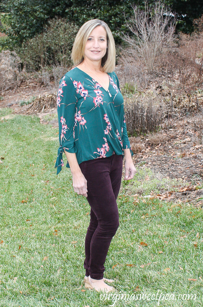 Stitch Fix Review for January 2020 - Beacon Imay Tie Sleeve Knit Top