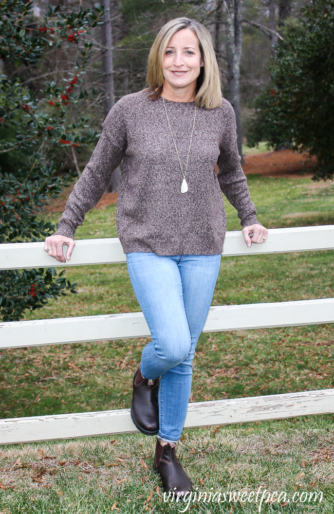 Stitch Fix Review for January 2020 - Emory Park Raz Slouchy Crew Neck Pullover