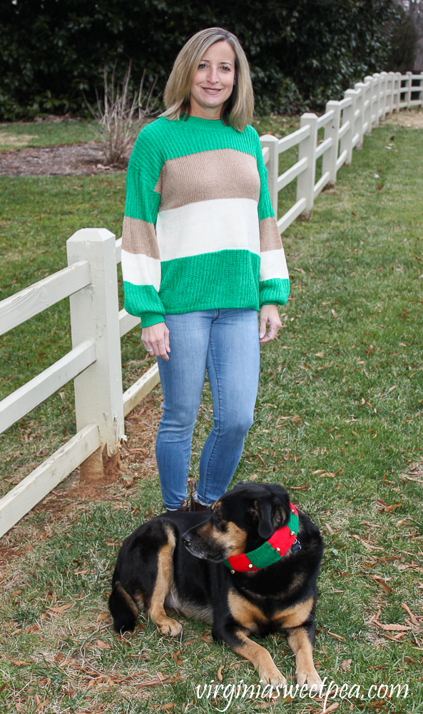 Stitch Fix Review for January 2020 - Katie Sturino Margeaux Balloon Sleeve Pullover