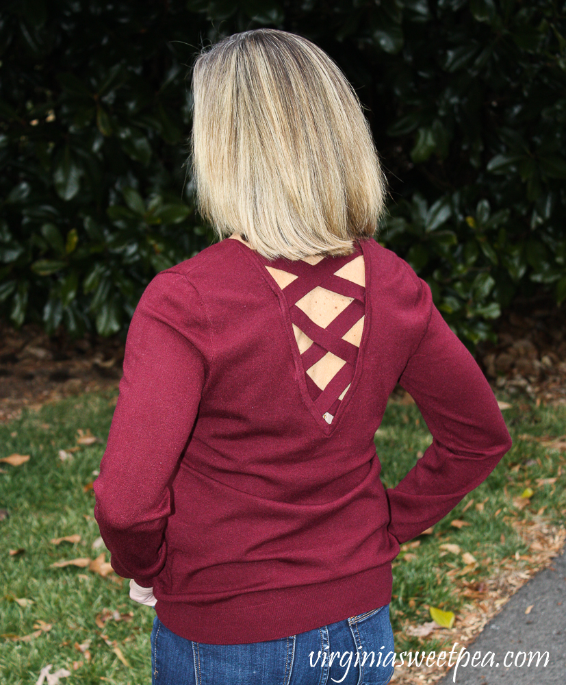 Stitch Fix Review for January 2020 - Love Always Mia Back Detail Pullover