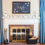Walking in a Winter Wonderland Mantel + Free Printable