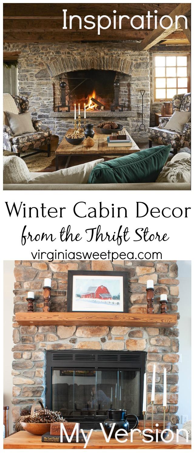 Winter Cabin Fireplace
