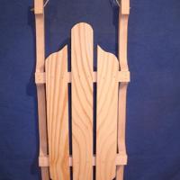 Decorative Wood Sled