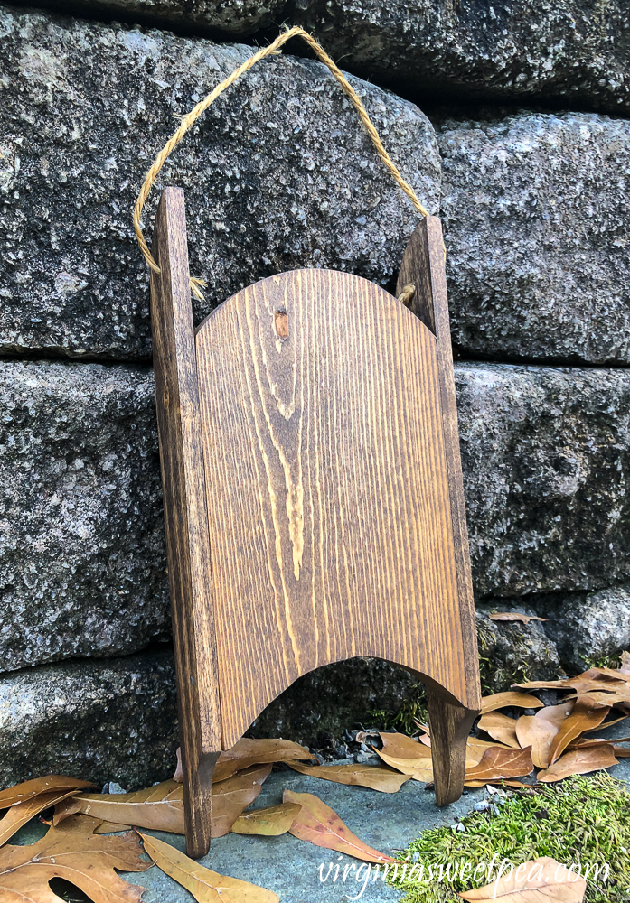 Handmade Wood Sled stained with Minwax Special Walnut