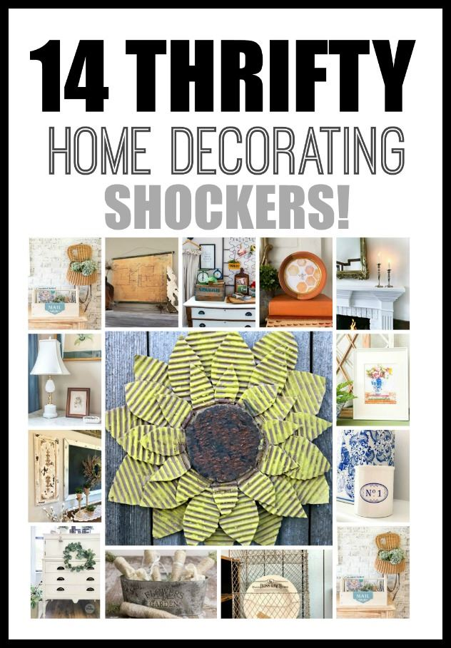 14 Thrifty Home Decorating Shockers - Get ideas for thrifty projects that you can make for your home.