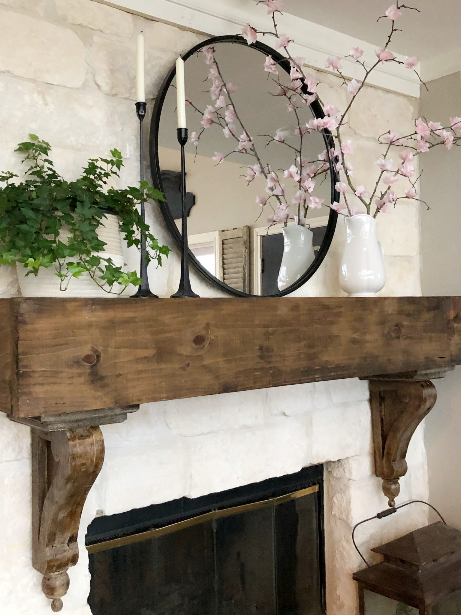 Hip and Humble Style Mantel