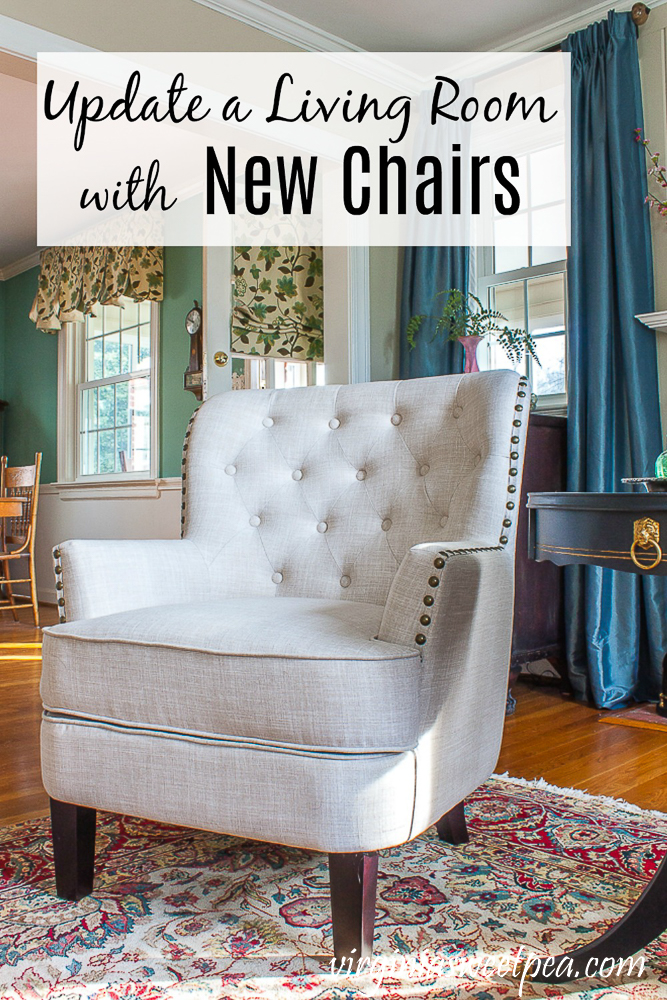Update a Living Room with New Chairs - A living room gets a fresh and updated look with new chairs.   via @spaula
