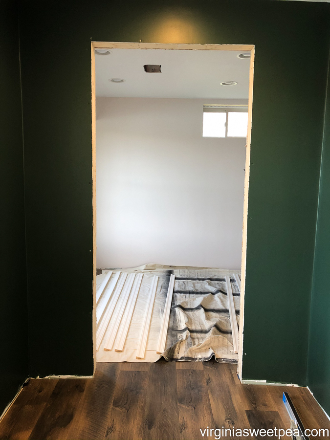 Doorway with no door prior to installation.