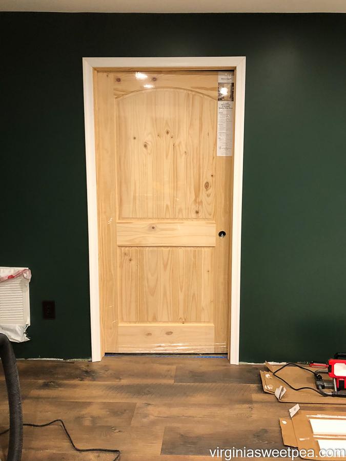 Installing moulding around a door