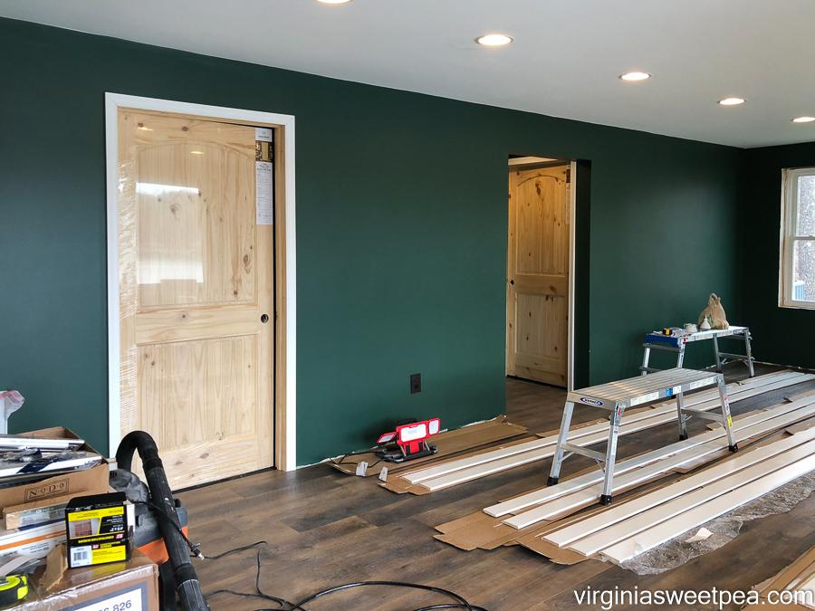 Doors and door moulding installed