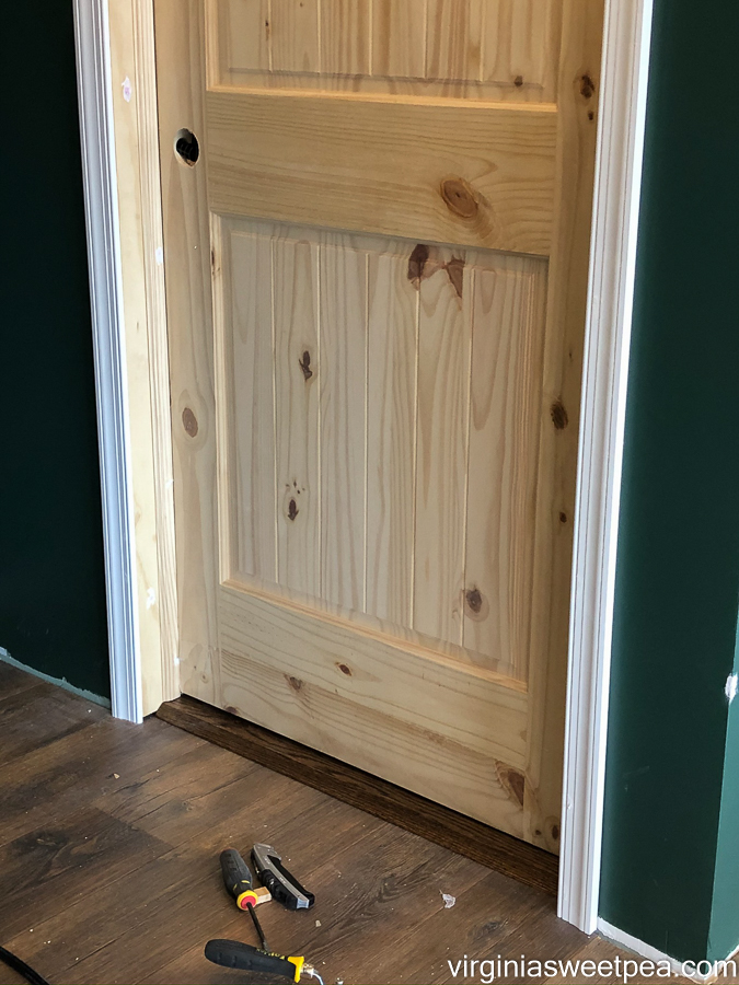 How to add a threshold to a doorway