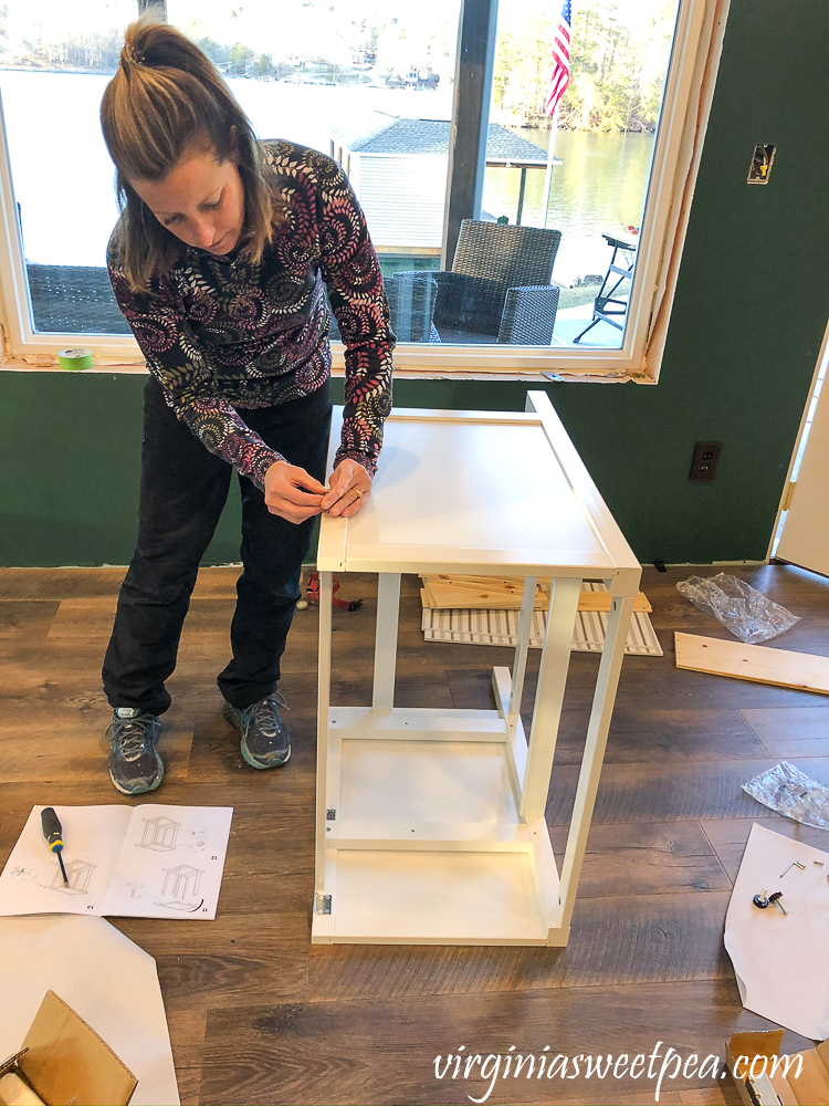 Putting together an Ikea Hemnes Raettviken sink