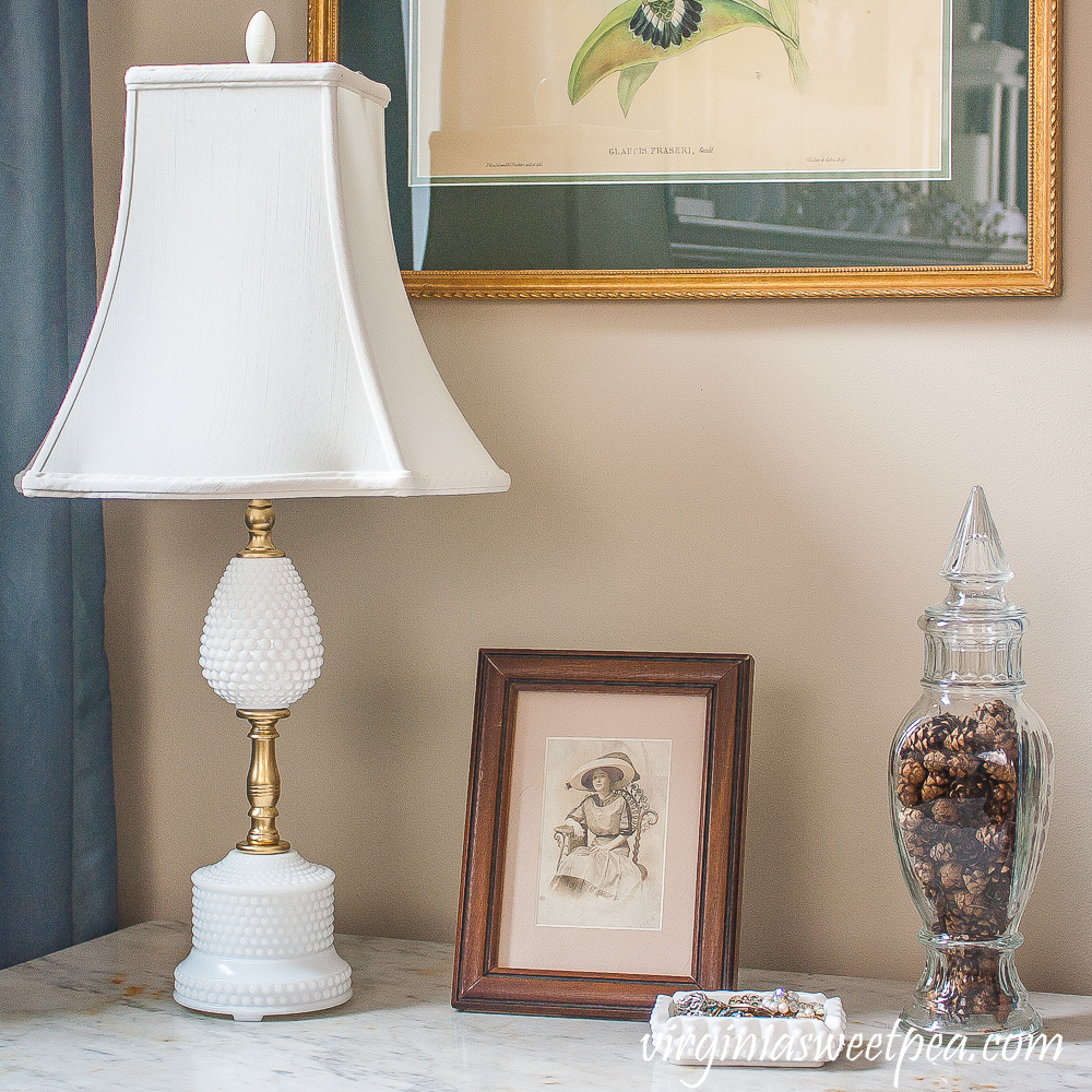 Milk Glass Lamp Makeover