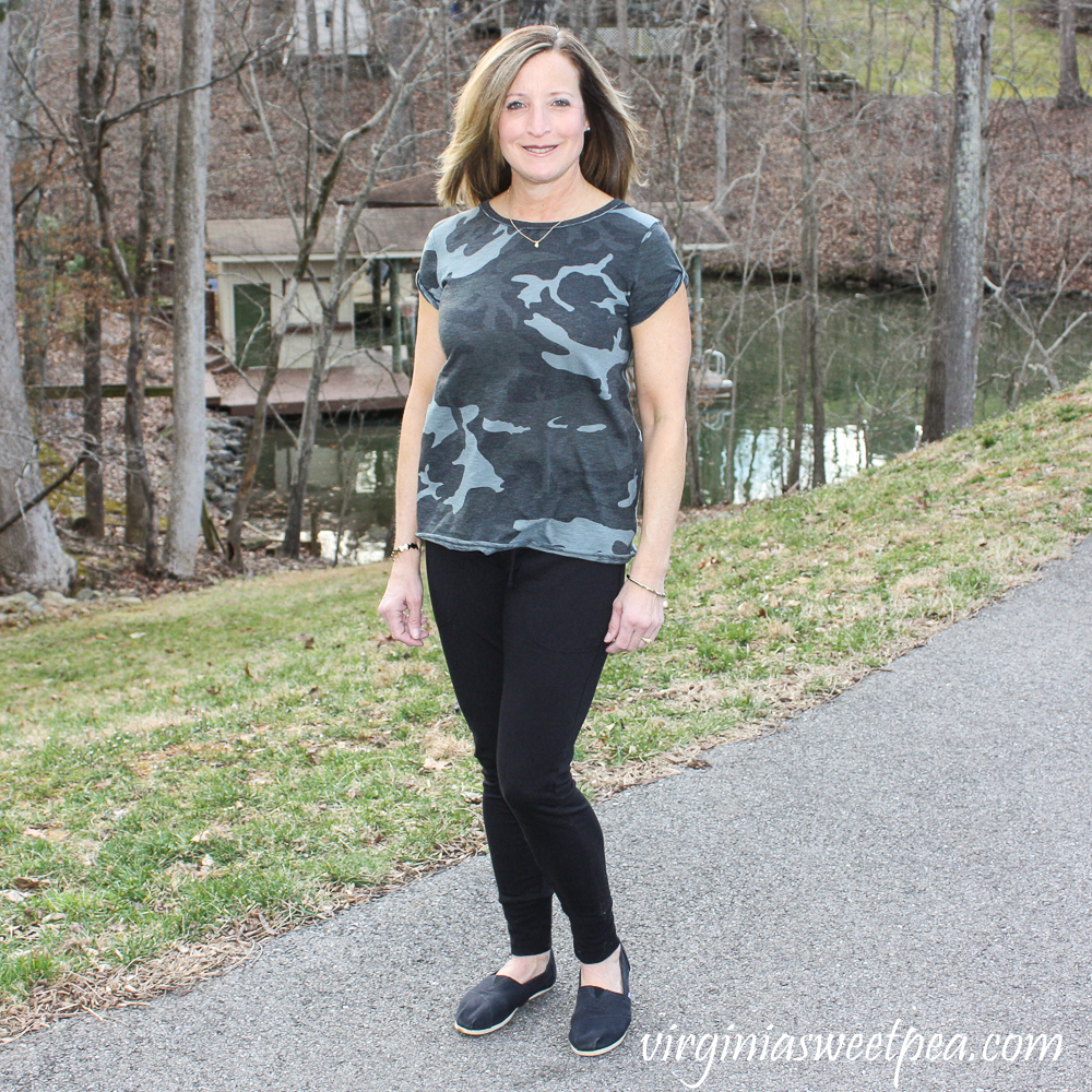 Stitch Fix Review for March 2020 - Free People Clare Roll Cuff Tee and Free People Sunny Drawstring Jogger Pant