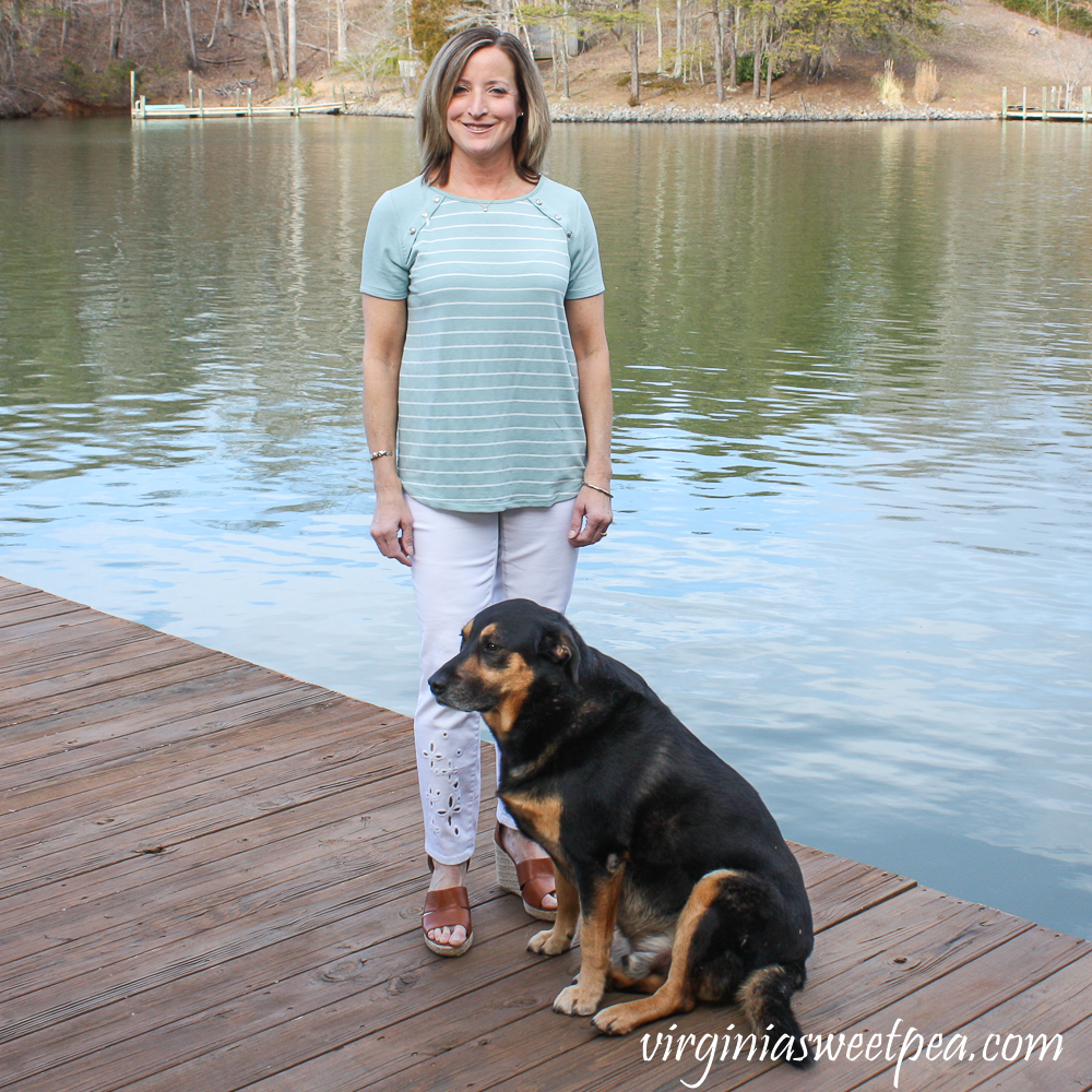 Stitch Fix Review for March 2020 - Pink Clover Leah Button Detail Knit Top