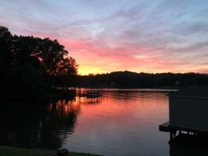 Smith Mountain Lake, VA at sunset