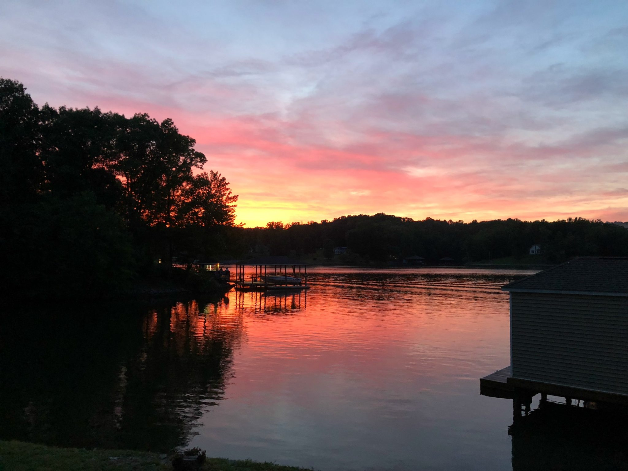 Smith Mountain Lake, VA at sunset