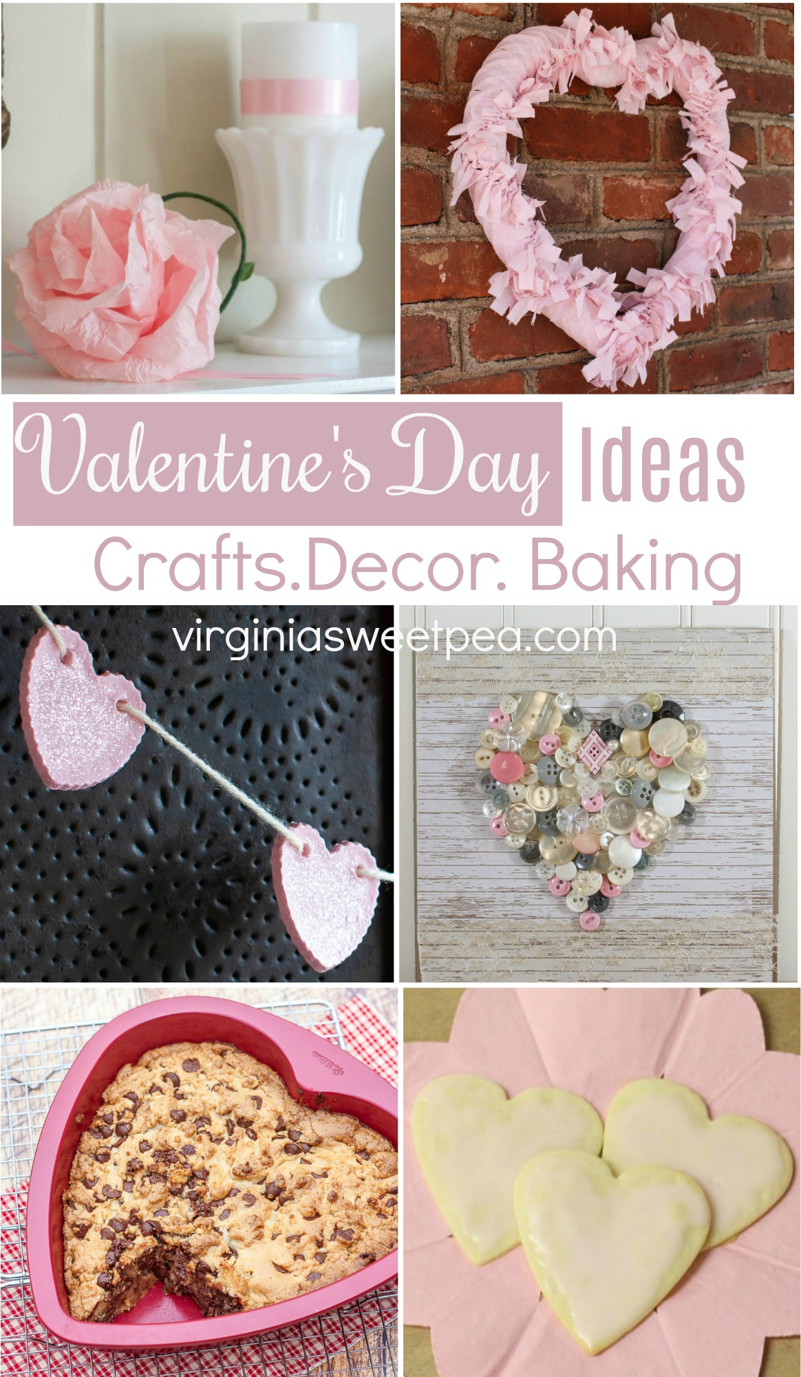 Valentine's Day Ideas for Crafts, Decor, and Baking - Get loads of ideas to make your Valentine's Day extra special. via @spaula