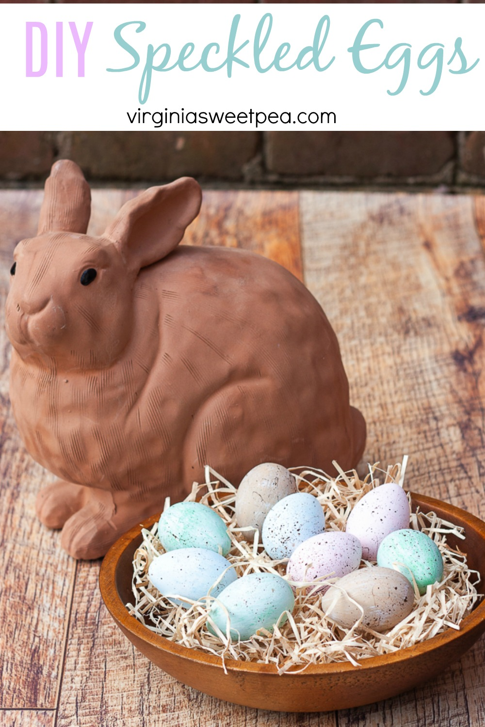 DIY Speckled Eggs - Learn how to make your own painted speckled eggs.  Customize the colors and use them for spring and Easter decor. via @spaula