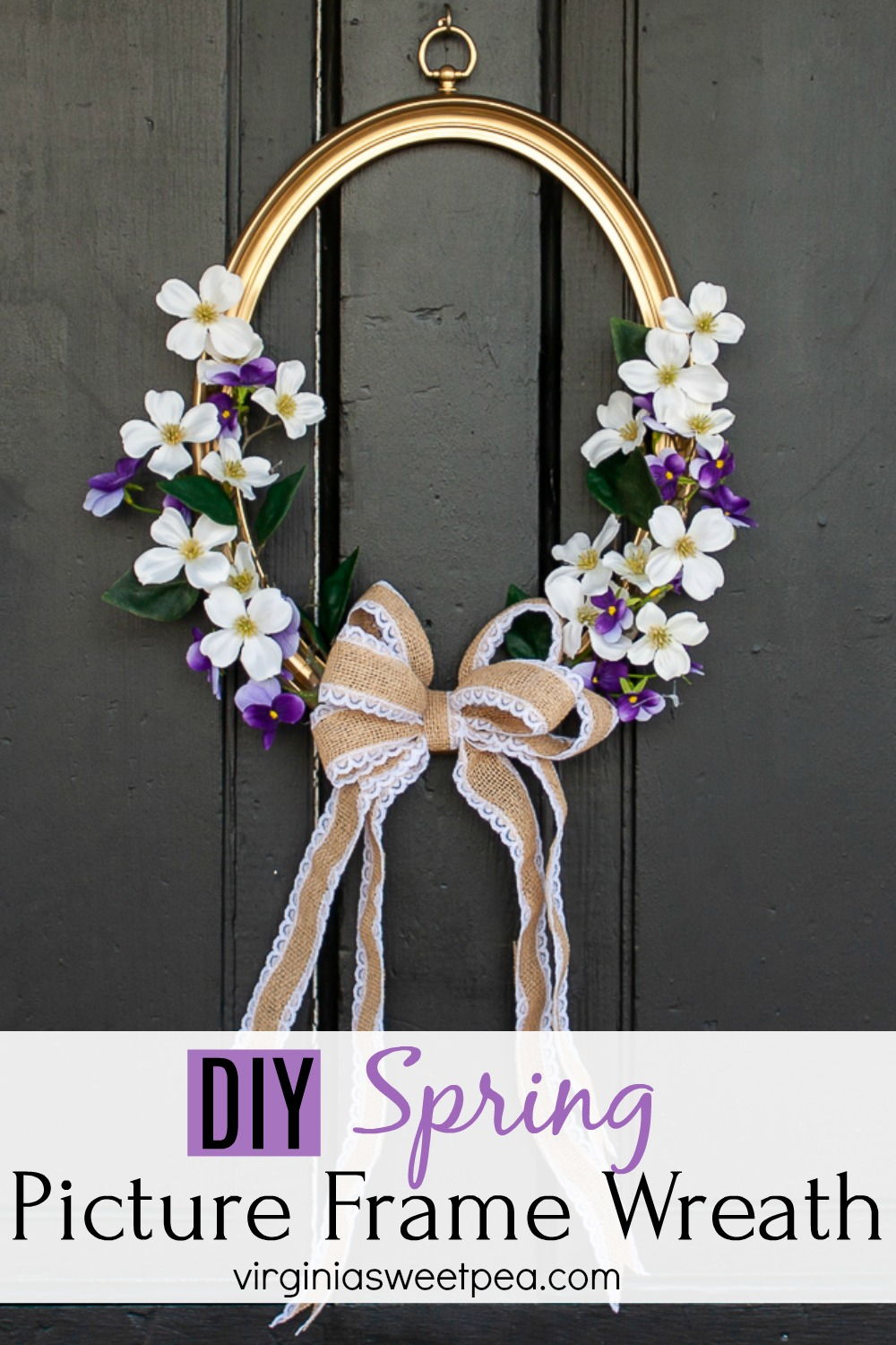 DIY Spring Picture Frame Wreath - Use a picture frame to make a wreath for your home for spring. #springwreath #upcycledproject #wreath #pictureframewreath via @spaula