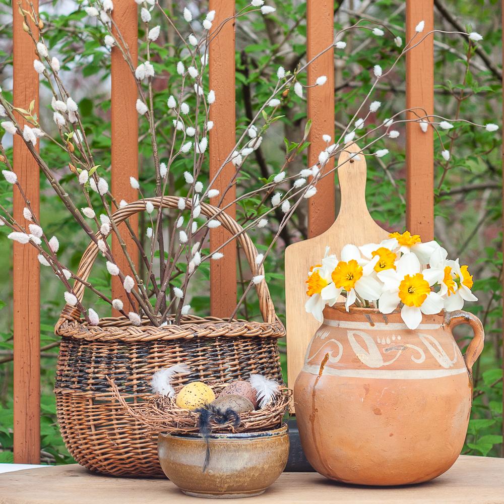 Garden Inspired Spring Vignette