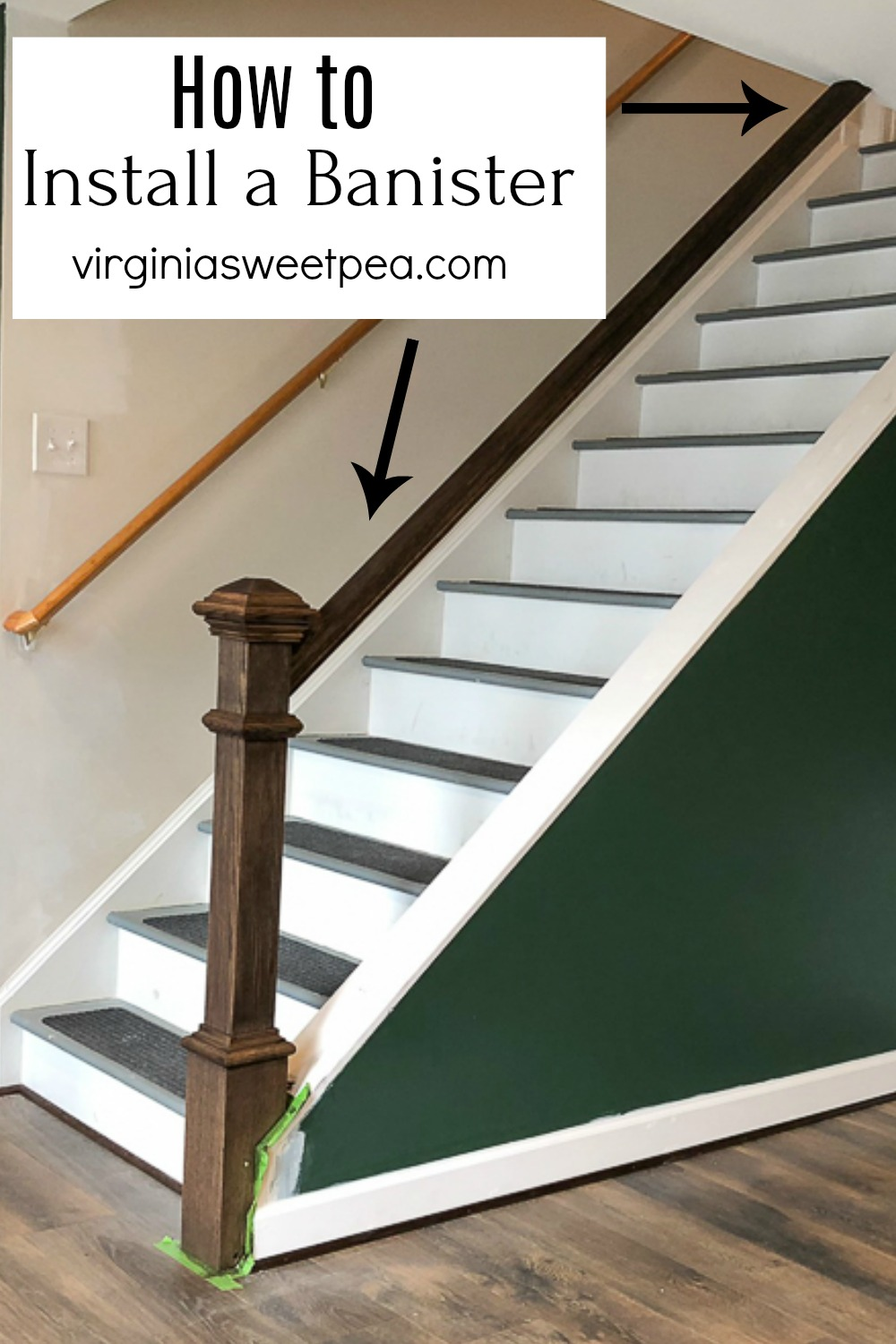 Learn how to install a banister on a set of steps.  #installingabanister #howtoinstallabanister #banister via @spaula