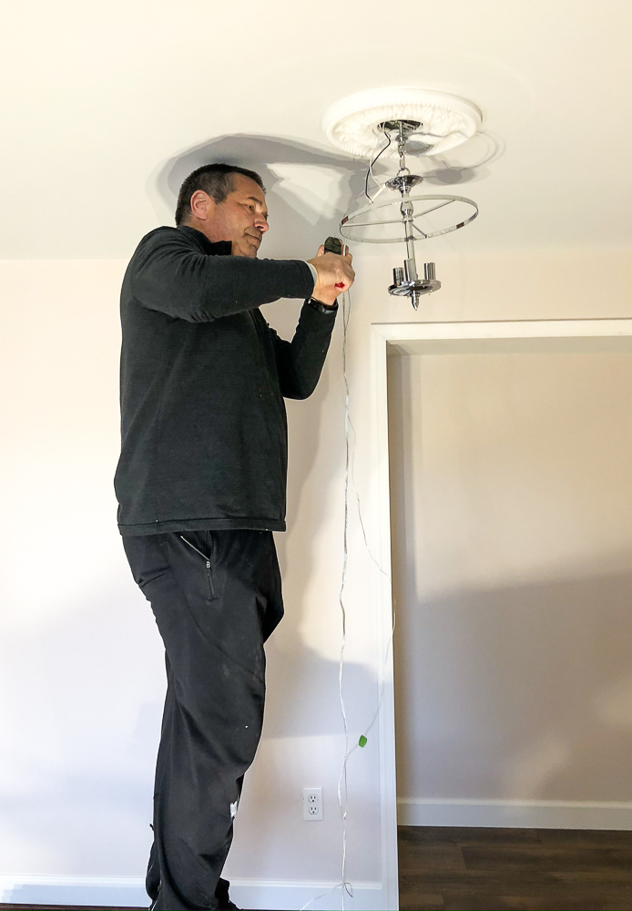 Installing a light in a bedroom