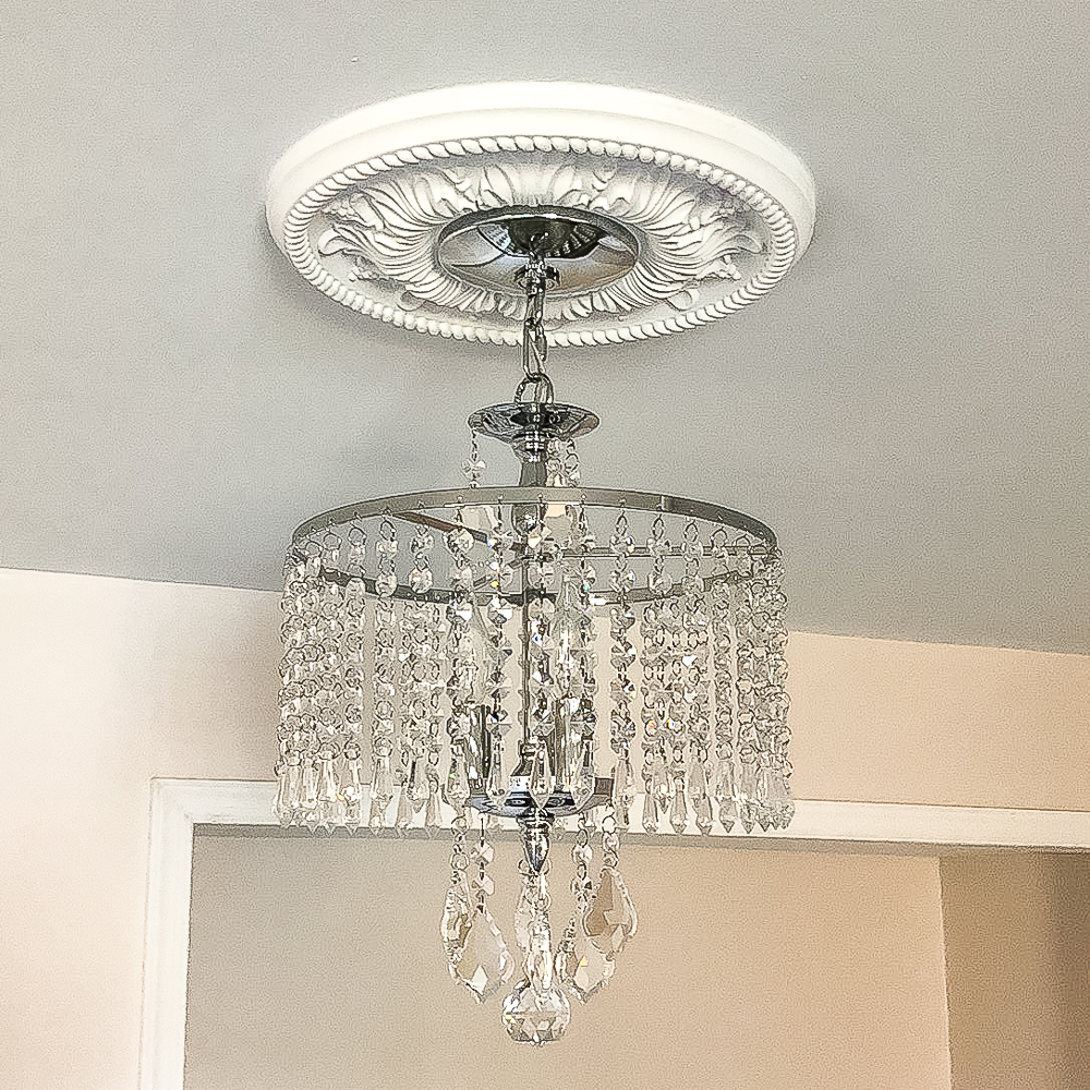 Home Decorators Collection Calisitti 3-Light Polished Chrome Mini-Chandelier with K9 Hanging Crystals