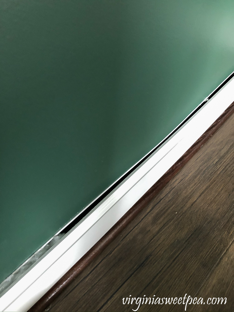Baseboard gapping from the walls