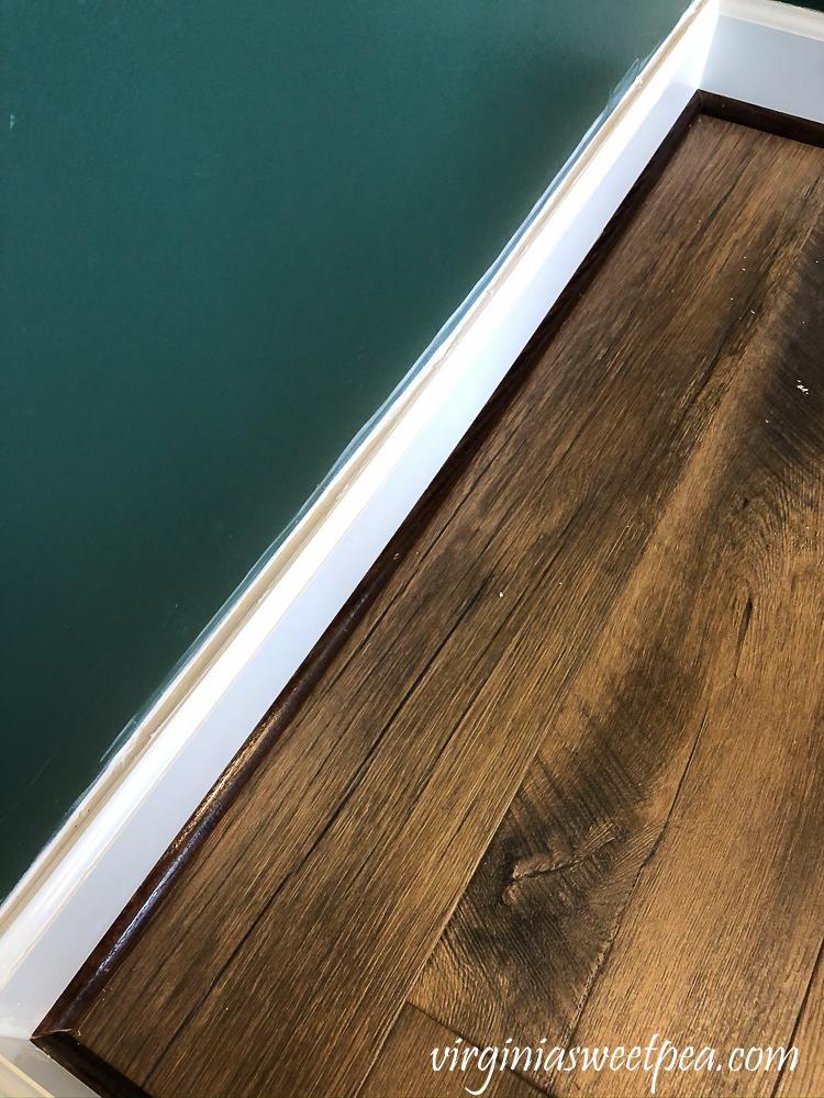 Caulked baseboard