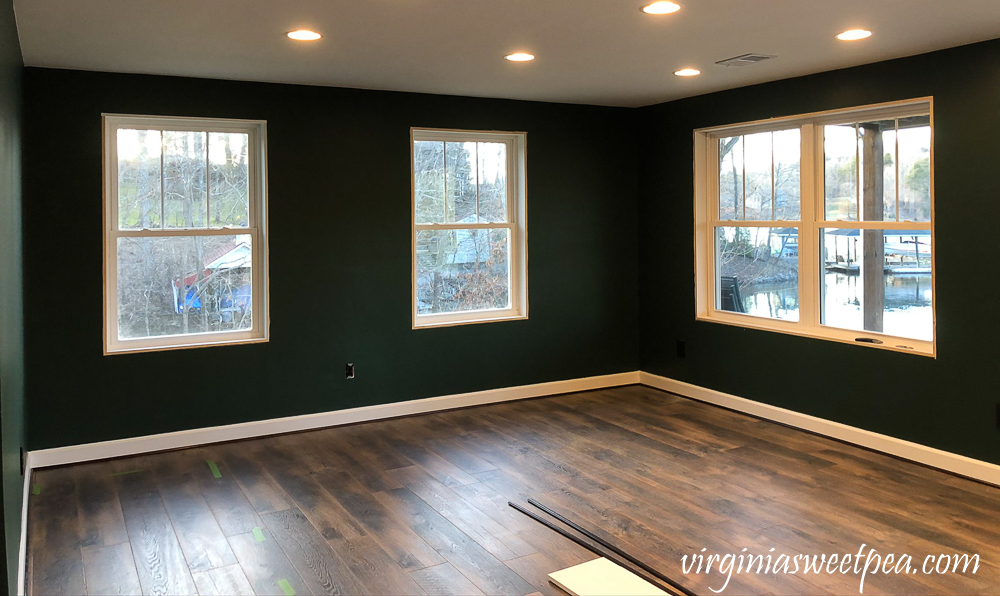 Framing windows in a lake house basement
