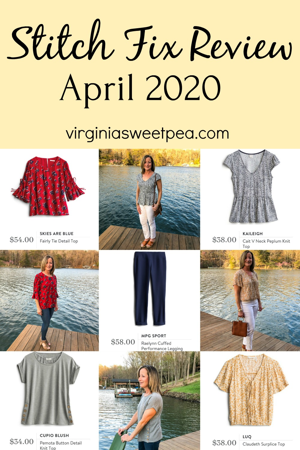 Stitch Fix Review for April 2020 - Fix #80 - See the spring fashions chosen by my stylist for April.  It's always hard to choose what to keep and what to send back.  #stitchfix #stitchfixreview #stitchfixspring via @spaula