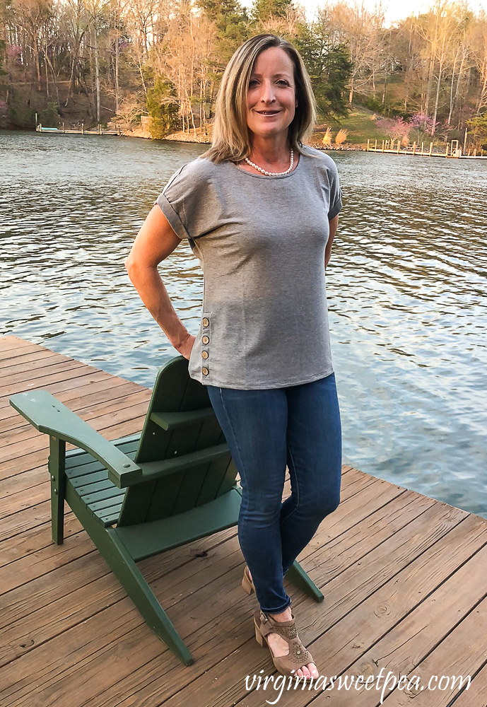 Stitch Fix Review for April 2020 - Cupio Blush Pemota Button Detail Knit Top