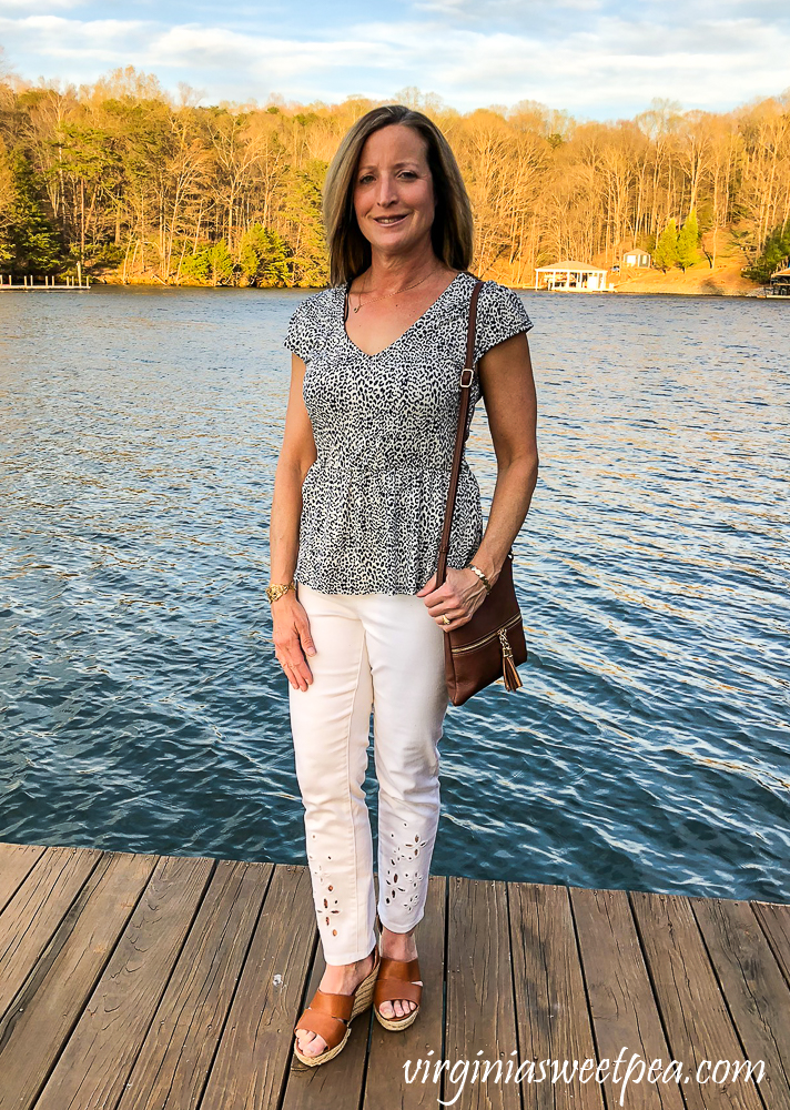 Stitch Fix Review for April 2020 - Kaileigh Cait V Neck Peplum Knit Top
