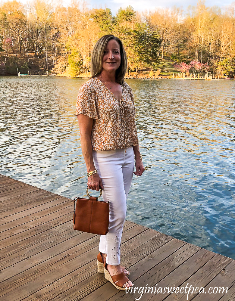 Stitch Fix Review for April 2020 - LUQ Claudth Surplice Top