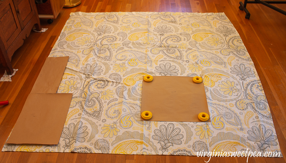 Tutorial to make pillow covers using a shower curtain.