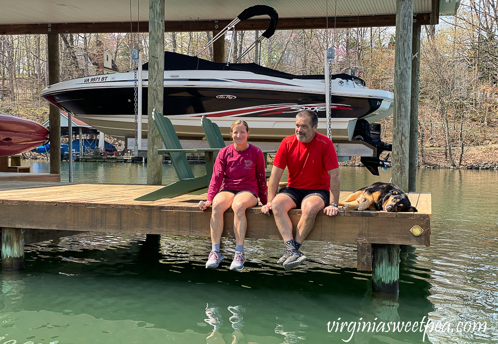 Skulina Family on the dock at Smith Mountain Lake