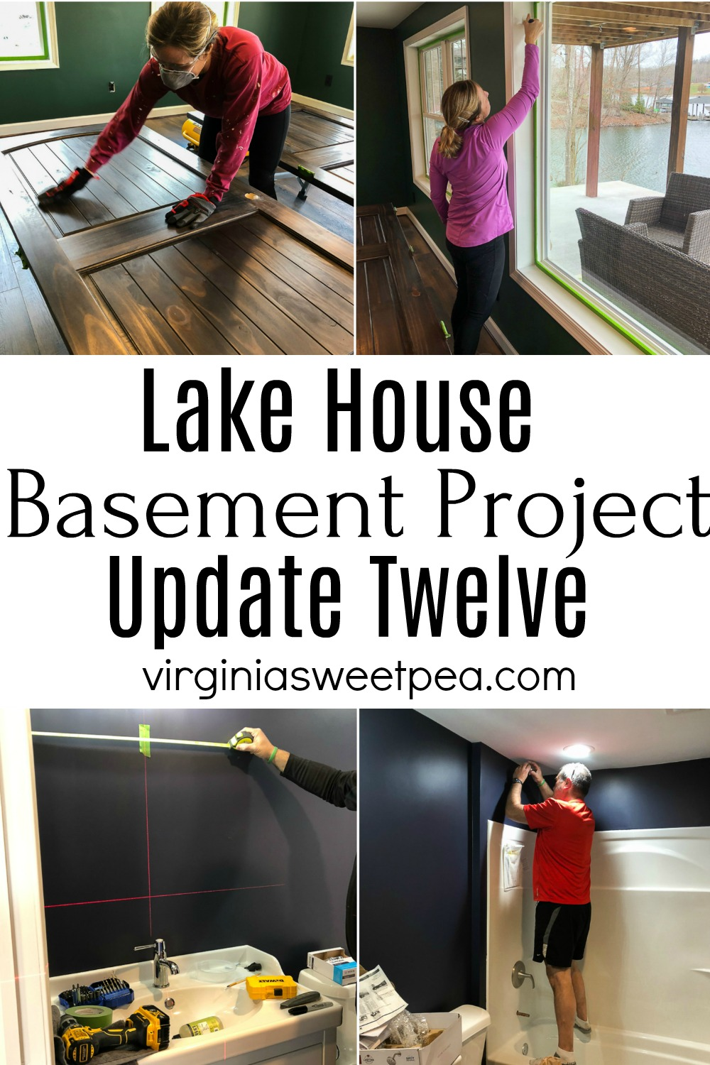 Lake House Basement Project - Update Twelve - Follow along as we transform an unfinished basement into a family room, bathroom, and bedroom. #smithmountainlake #lakehouse #finishing a basement via @spaula