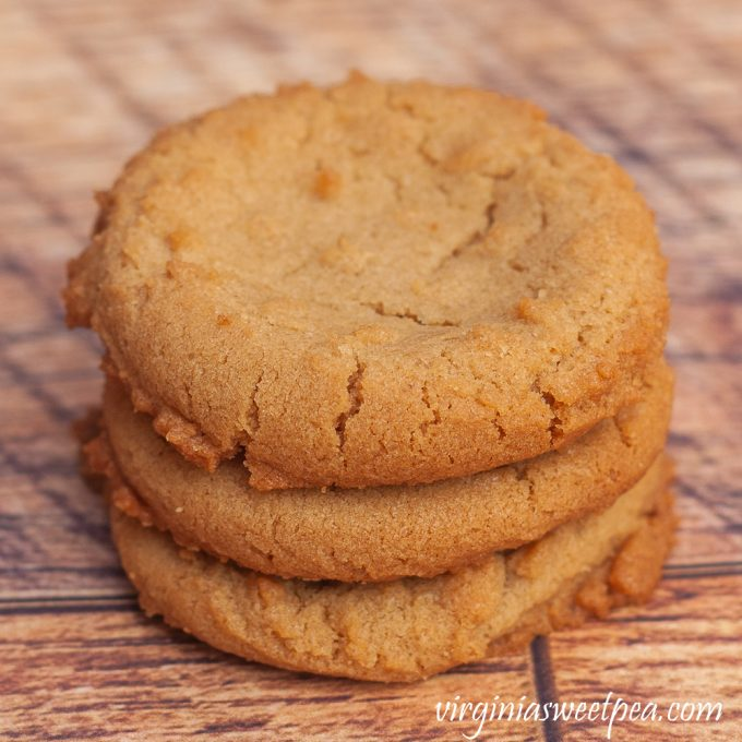 Stack of Three Peanut Butter Cookies