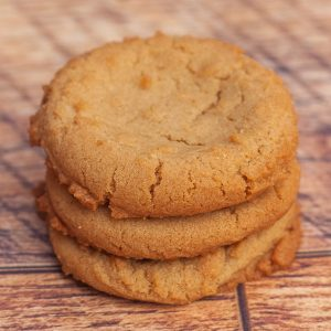 Three Peanut Butter Cookies in a Stack
