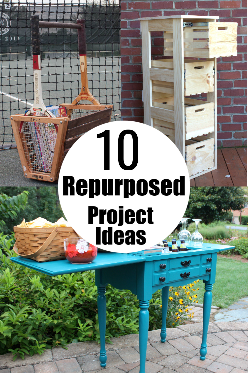 10 Repurposed Project Ideas - Discover ways to creatively repurpose items into useful home decor. #repurpose #DIY #repurposedprojects #upcycle #upcycledprojects via @spaula