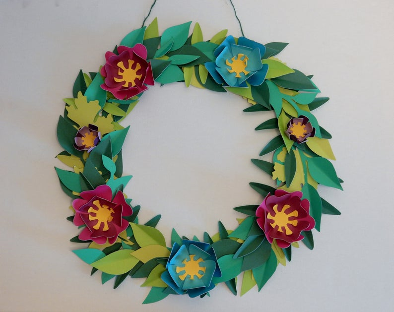 Paper Flower Wreath Kit