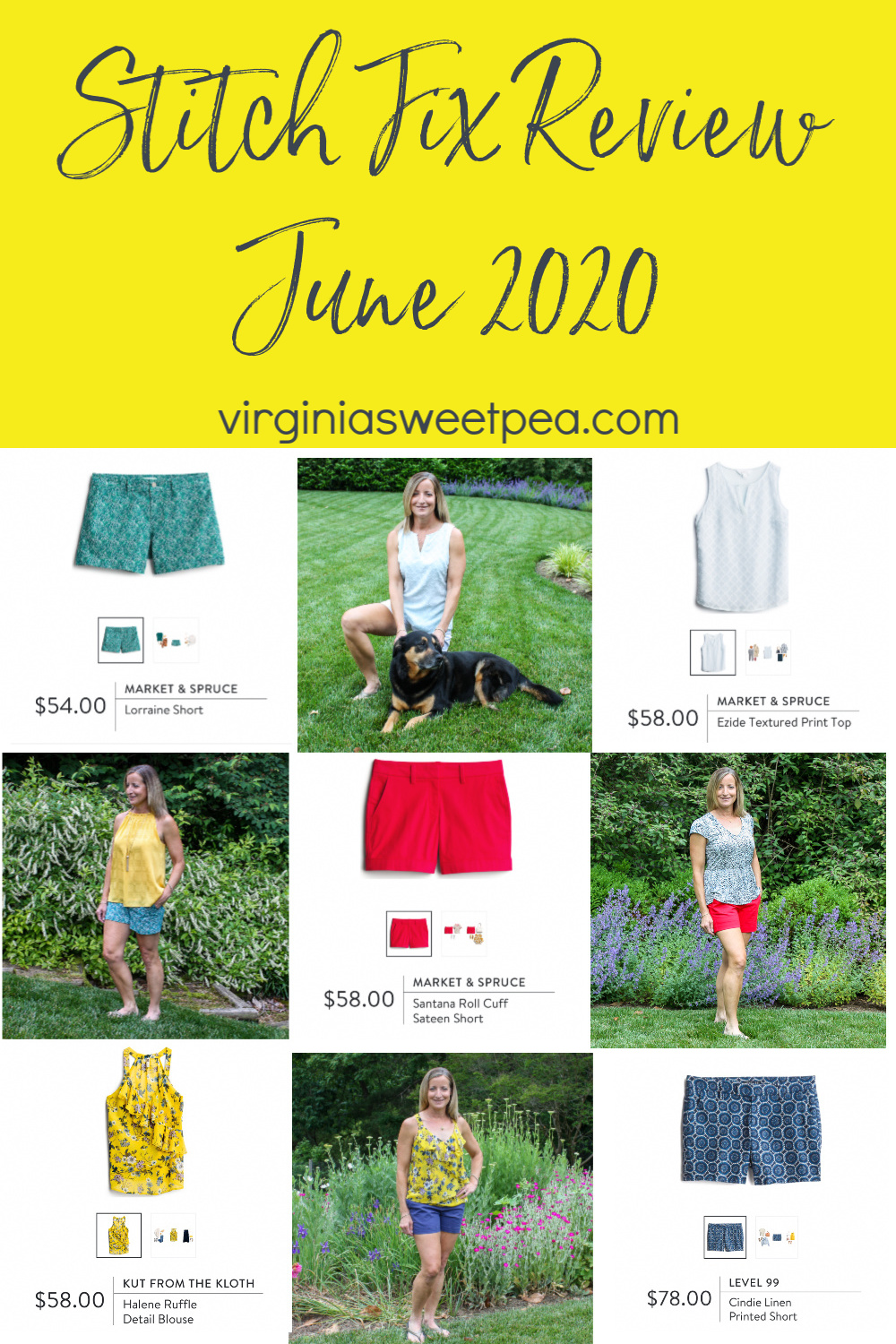 Stitch Fix Review for June 2020 - See the fashions selected by my stylist for summer.  #stitchfix #stitchfixreview #stitchfixstyle via @spaula