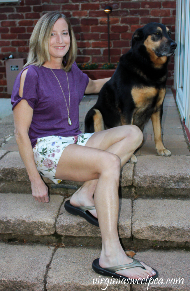 Stitch Fix Review for May 2020 - Level 99 Cindie Linen Printed Short
