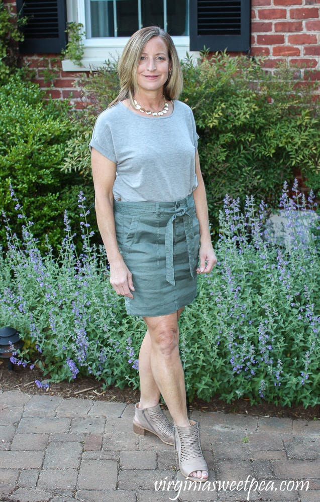 Stitch Fix Review for May 2020 - Liverpool Leonora Tie Front Skirt