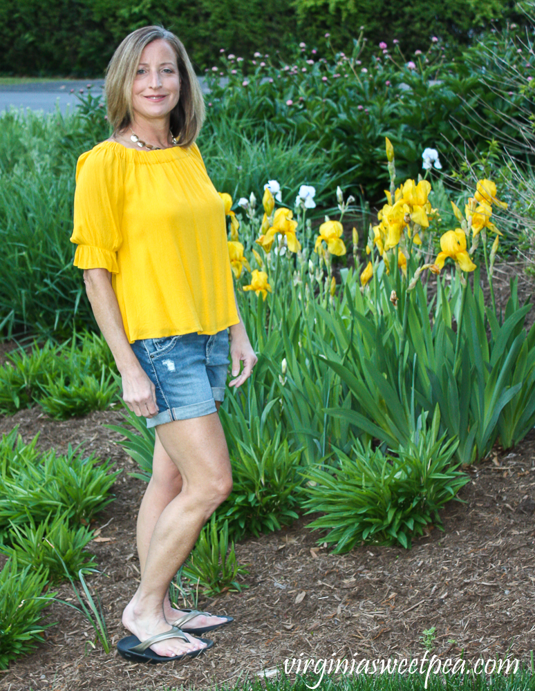 Stitch Fix Review for May 2020 - Silver Jeans Co Sam Short Distressed